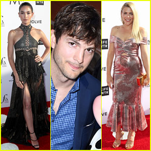 Ashton Kutcher & Lily Aldridge Present On Stage at Fashion Los Angeles Awards 2017