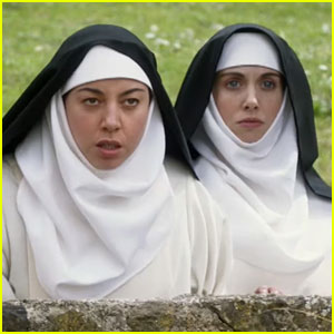 Aubrey Plaza & Alison Brie Are Naughty Nuns in 'Little Hours' Red Band Trailer!