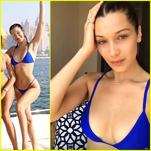Bella Hadid Goes Skydiving & Bares Bikini Body In Dubai