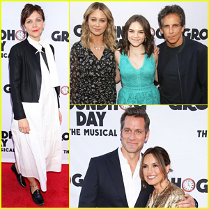 Ben Stiller Brings Family To Star-Studded 'Groundhog Day' Broadway Opening Night!