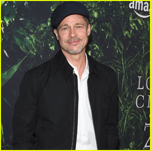 Brad Pitt Makes Rare Public Appearance at 'The Lost City Of Z' L.A. Premiere
