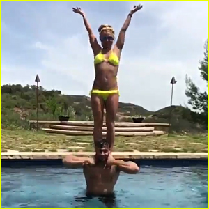 Britney Spears & Boyfriend Sam Asghari Show Off Their Hot Bodies!