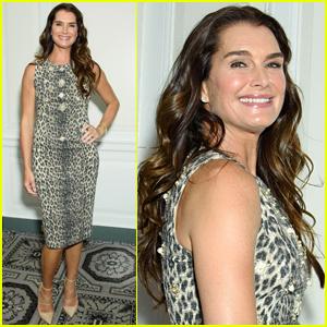 Brooke Shields Wears Leopard Print to Fragrance Luncheon