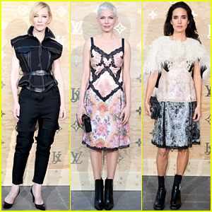 Cate Blanchett, Michelle Williams, & Jennifer Connelly Have Fun with Fashion at Louis Vuitton's Paris Dinner!