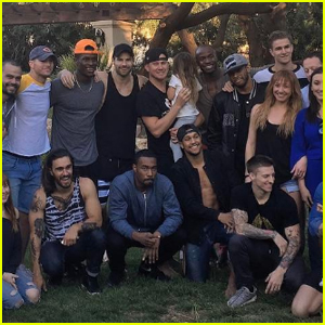 Channing Tatum Hangs With the 'Magic Mike Live' Cast at His Las Vegas Pad