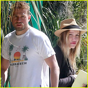 Charlie Hunnam & Girlfriend Morgana McNelis Spend Their Sunday Shopping