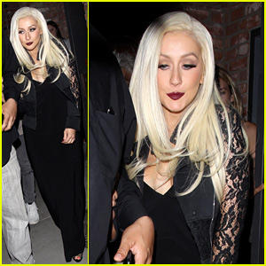 Christina Aguilera Makes Rare Appearance Out in Hollywood