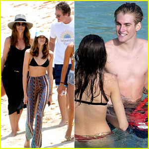 Cindy Crawford & Rande Gerber Hit the Beach with Their Kids