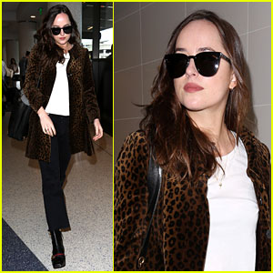 Dakota Johnson Shows Off Her Style While Heading Out of Town