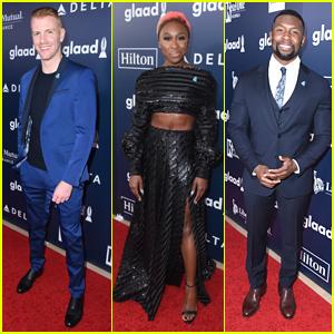 Daniel Newman, Cynthia Erivo, & Trevante Rhodes Attend the GLAAD Media Awards