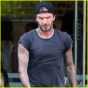 David Beckham Works Up a Sweat At SoulCycle Class