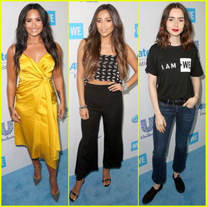 Demi Lovato, Shay Mitchell, & Lily Collins Are WE Day Beauties