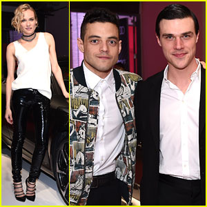 Diane Kruger Helps Launch New Audi Car with Rami Malek & Finn Wittrock!
