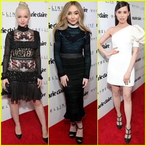 Dove Cameron, Sabrina Carpenter & Sofia Carson Are Fresh Faces at 'Marie Claire' Party