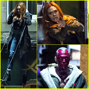 Elizabeth Olsen Performs Stunts for 'Avengers: Infinity War,' Films with Paul Bettany - New Photos!
