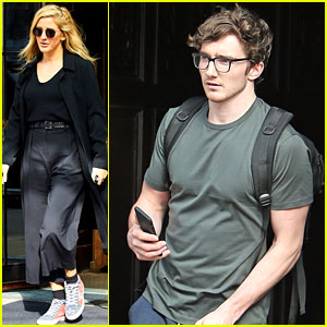 Ellie Goulding & New Boyfriend Caspar Jopling Check Out of Their NYC Hotel