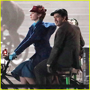 Emily Blunt & Lin-Manuel Miranda Film 'Mary Poppins Returns' in London!