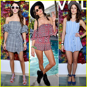Emma Roberts, Alessandra Ambrosio, & Troian Bellisario Rock Pretty Prints at Coachella 2017