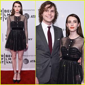 Emma Roberts Supports Evan Peters at Tribeca Premiere of 'Dabka'