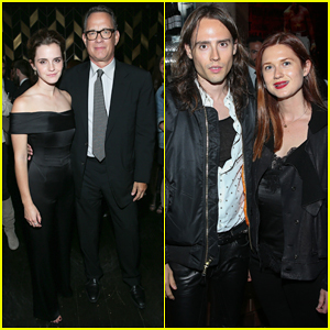 Emma Watson & Bonnie Wright Have Mini 'Harry Potter' Reunion At  'The Circle' After Party!