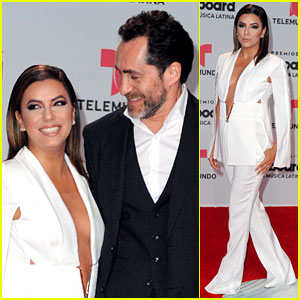 Eva Longoria & 'Lowriders' Co-Star Demian Bichir Take the Stage at Billboard Latin Music Awards 2017
