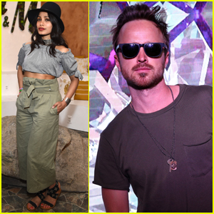 Freida Pinto & Aaron Paul Get in the Coachella Spirit With 'H&M'