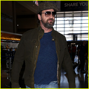 Gerard Butler Travels Light for Flight Out of L.A.