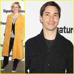 Greta Gerwig & Justin Long Step Out For Opening Night Of Broadway's 'The Antipodes'!
