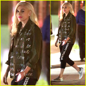Gwen Stefani Wraps Late Night Photo Shoot in Hollywood
