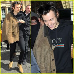 Harry Styles Arrives In France to Continue Press Tour