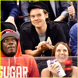 Harry Styles Sits In Crowd at Rangers Game in New York City!
