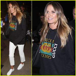 Heidi Klum Arrives for a Flight Out of LAX Airport