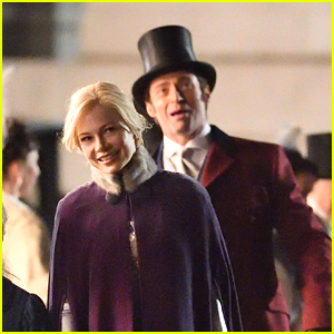 Hugh Jackman & Michelle Williams Film 'The Greatest Showman' in NYC!