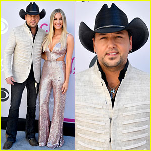 Jason Aldean & Wife Brittany Step Out for ACM Awards 2017