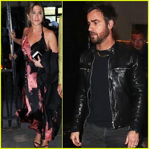 Jennifer Aniston & Justin Theroux Enjoy Date Night in Piaris