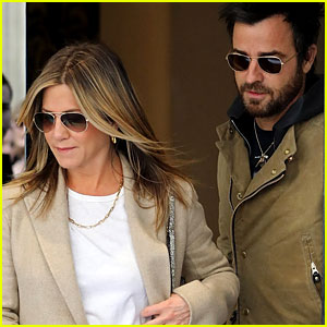 Jennifer Aniston & Justin Theroux Step Out Together in Paris