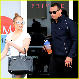Jennifer Lopez & Alex Rodriguez Hit the Gym Together in Miami