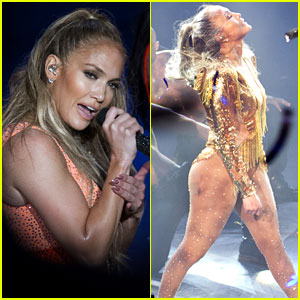Jennifer Lopez Performs with Ex Marc Anthony in the Dominican Republic