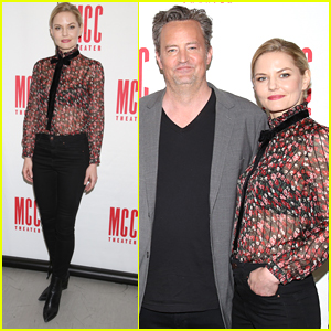 Jennifer Morrison & Matthew Perry Promote Their New Play 'The End of Longing' in NYC