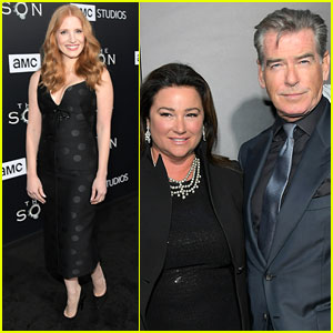 Jessica Chastain & Pierce Brosnan Step Out for 'The Son' Premiere in Hollywood