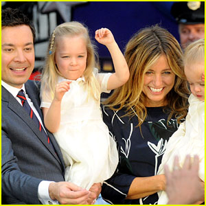 Jimmy Fallon Brings His Wife & Kids to Ride Opening at Universal Orlando!