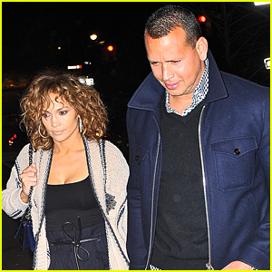Jennifer Lopez & Alex Rodriguez Hold Hands on Their Way to Dinner