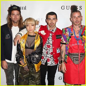 Joe Jonas Celebrates 'Flaunt' Magazine With Nick Jonas & DNCE
