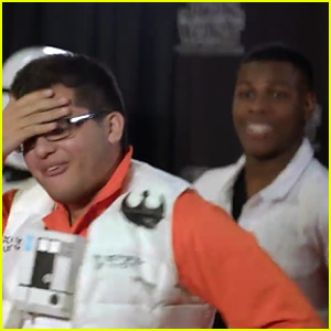 John Boyega Surprises 'Star Wars' Super Fans, Photo Bombs Their Pics in New Video - Watch Now!