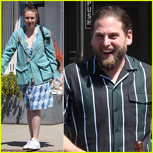 Jonah Hill & Lena Dunham Share a Hug During Afternoon Outing