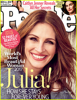 Julia Roberts Named World's Most Beautiful Woman By 'People' for Record 5th Time!