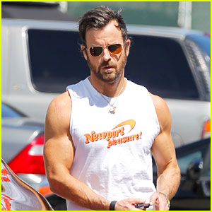 Justin Theroux Muscles Up After Tuesday Afternoon Workout!