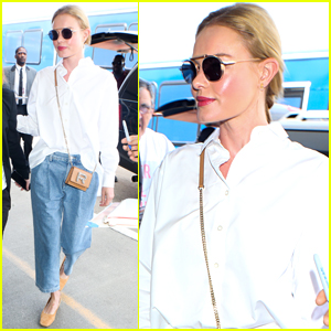 Kate Bosworth greets fans as she makes her way through LAX Airport for ...