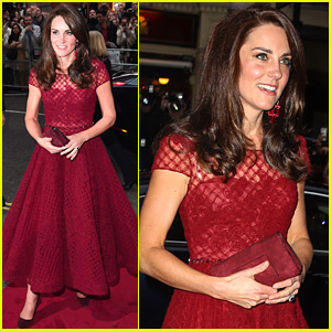 Kate Middleton Is the Lady in Red for a Night at the Theatre