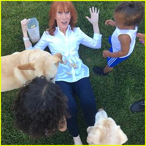 Kathy Griffin Helps Kris Jenner Babysit North & Saint West!